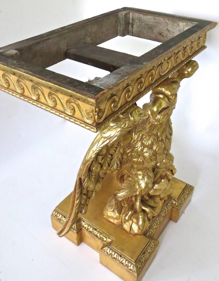 Pair of George II Carved Giltwood Pier Tables in the Manner of William Kent For Sale 5