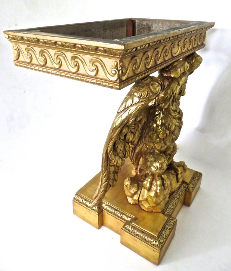 Mid-18th Century Pair of George II Carved Giltwood Pier Tables in the Manner of William Kent For Sale