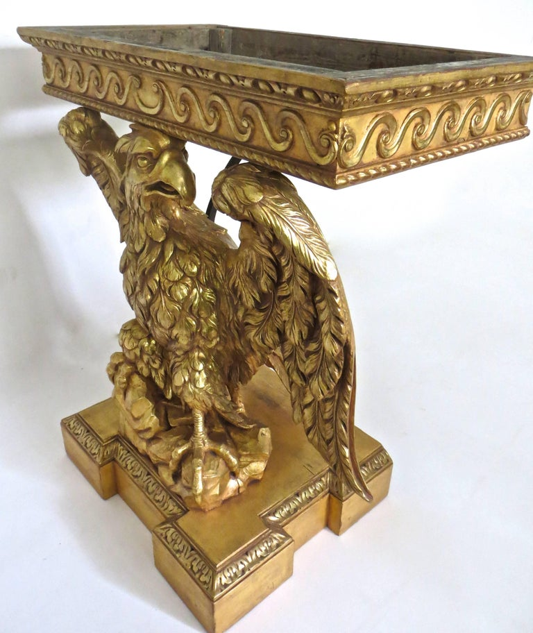 Pine Pair of George II Carved Giltwood Pier Tables in the Manner of William Kent For Sale