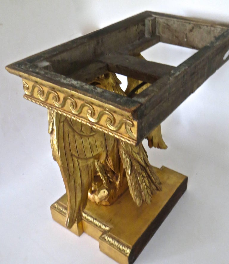Pair of George II Carved Giltwood Pier Tables in the Manner of William Kent For Sale 1