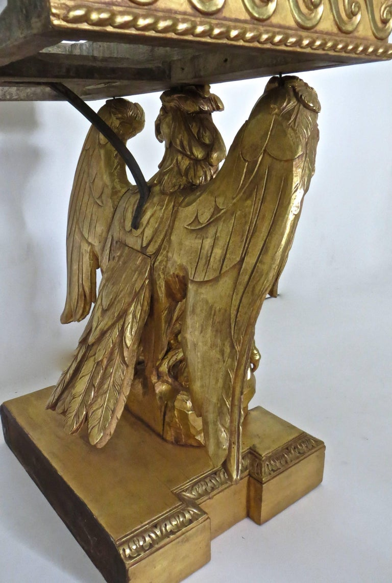 Pair of George II Carved Giltwood Pier Tables in the Manner of William Kent For Sale 2