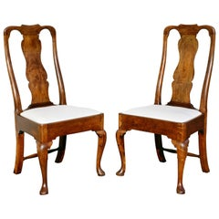 Paar George-II-Stühle aus Nussbaum