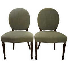 Pair of George III Adam Period Salon Chairs