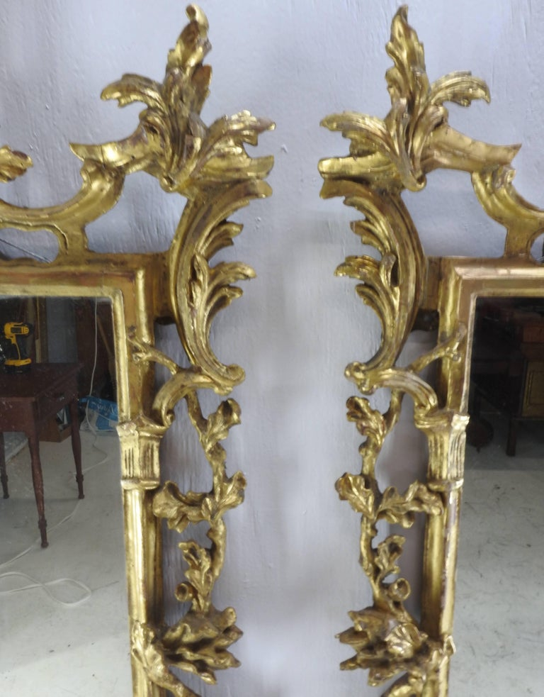 Great Britain (UK) Pair of George III Bright Gilt Mirrors For Sale