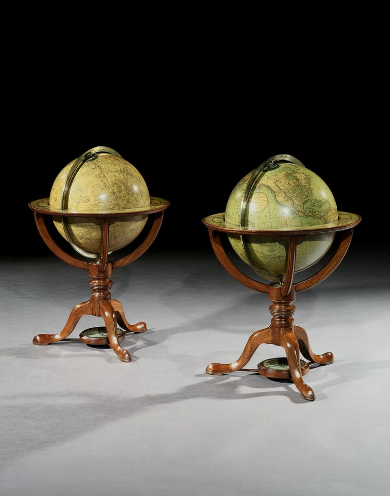 English Pair of George III Globes, by J. & W. Cary For Sale