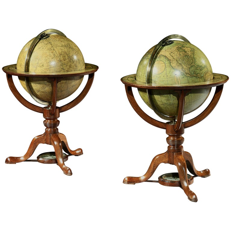 Pair of George III Globes, by J. & W. Cary For Sale