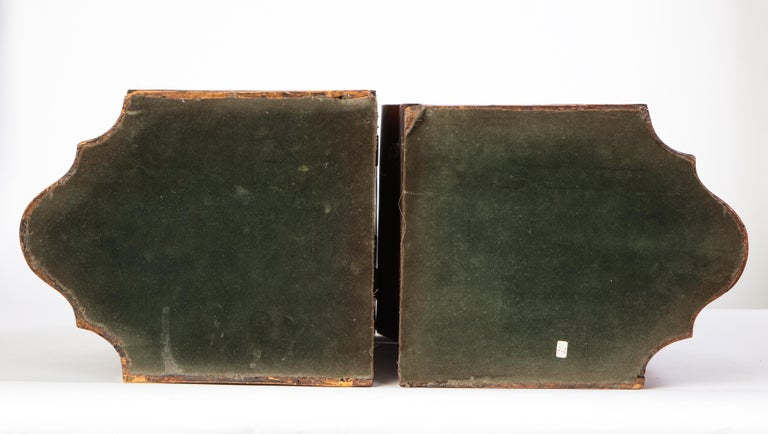 Pair of George III Inlaid Mahogany Cutlery Boxes, Late 18th Century 11