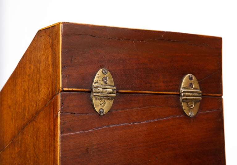 Pair of George III Inlaid Mahogany Cutlery Boxes, Late 18th Century 12