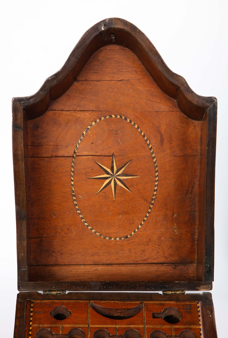 Pair of George III Inlaid Satinwood Cutlery Boxes, Late 18th Century For Sale 10