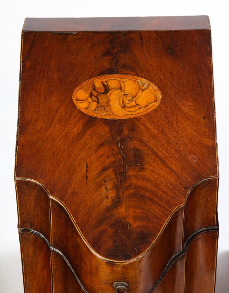 Pair of George III Inlaid Satinwood Cutlery Boxes, Late 18th Century For Sale 1