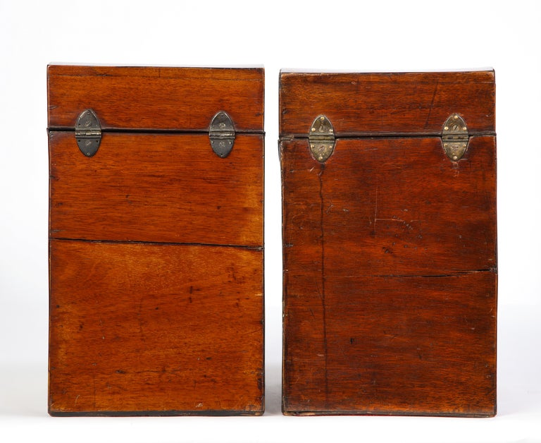 Pair of George III Inlaid Satinwood Cutlery Boxes, Late 18th Century For Sale 5