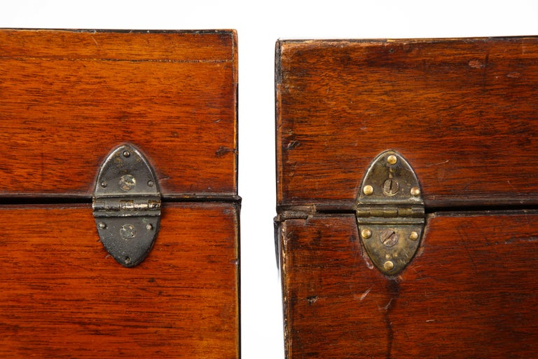 Pair of George III Inlaid Satinwood Cutlery Boxes, Late 18th Century For Sale 6