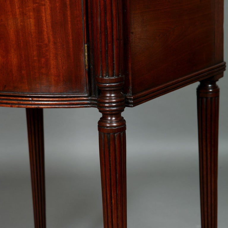 Pair of George III Mahogany Bedside Cabinet Nightstands Manner of Gillows For Sale 4