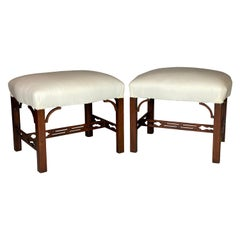 Pair of George III Mahogany Benches