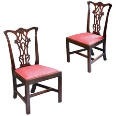 Set of 18th century Chippendale chairs
