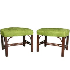 Pair of George III Mahogany Footstools