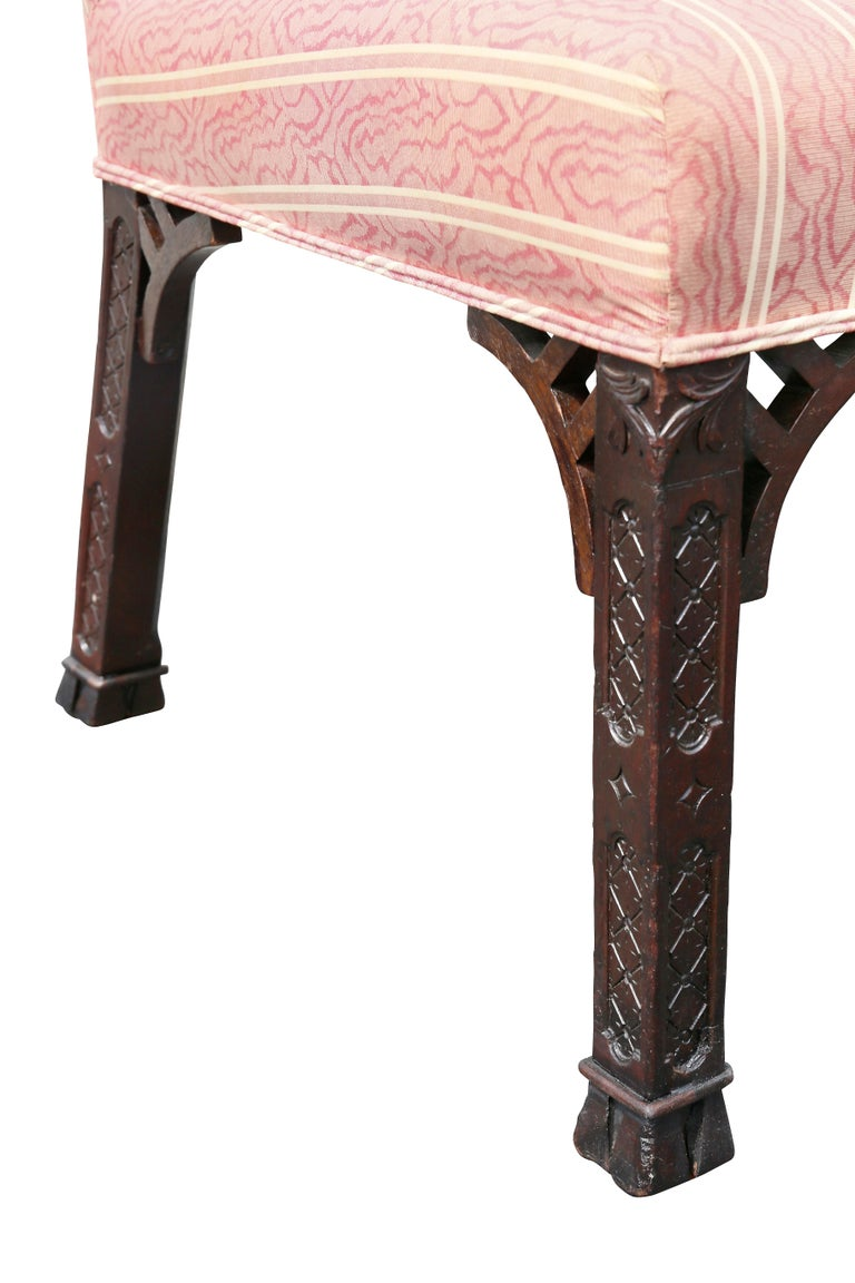 Mid-18th Century Pair of George III Mahogany Side Chairs For Sale