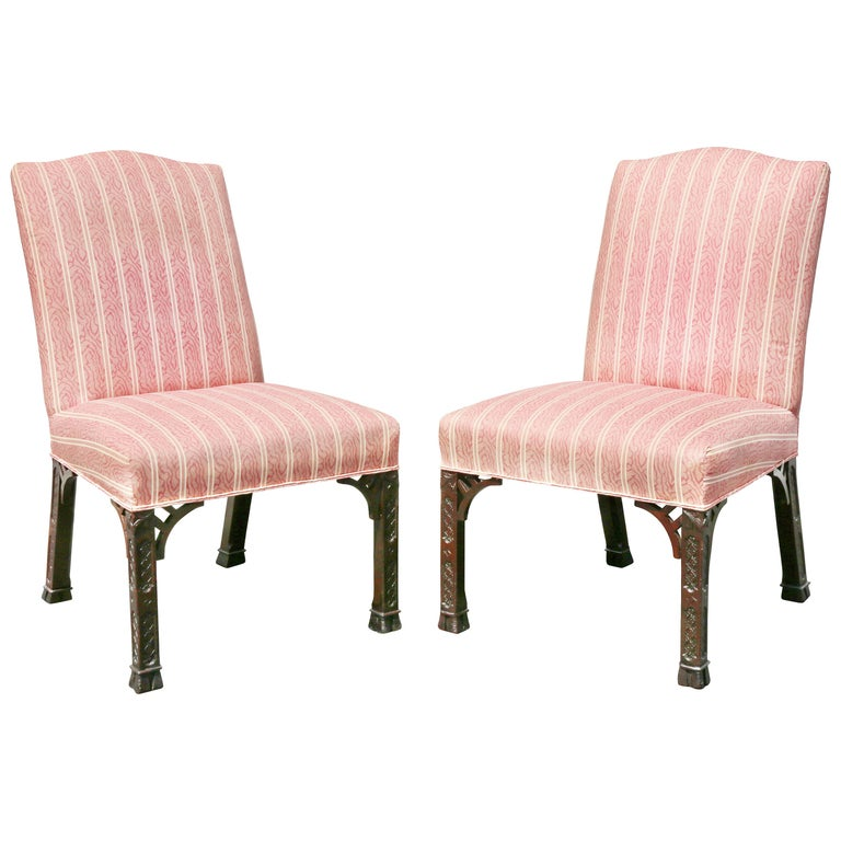 Pair of George III Mahogany Side Chairs For Sale
