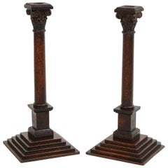 Pair of George III Neoclassical Candlesticks