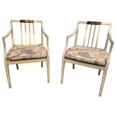 Pair of George III Painted Armchairs