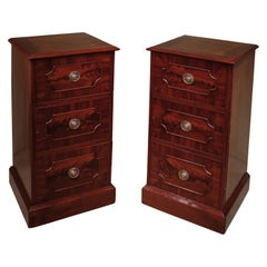 Pair of George III Period Mahogany Dining Room Pedestal Cupboards