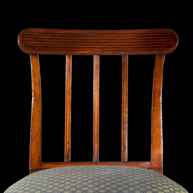 Mahogany Pair of George III Regency Side Chairs For Sale