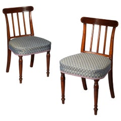 Pair of George III Regency Side Chairs