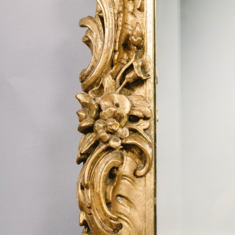 19th Century Pair of George III Style Carved Giltwood Mirrors For Sale