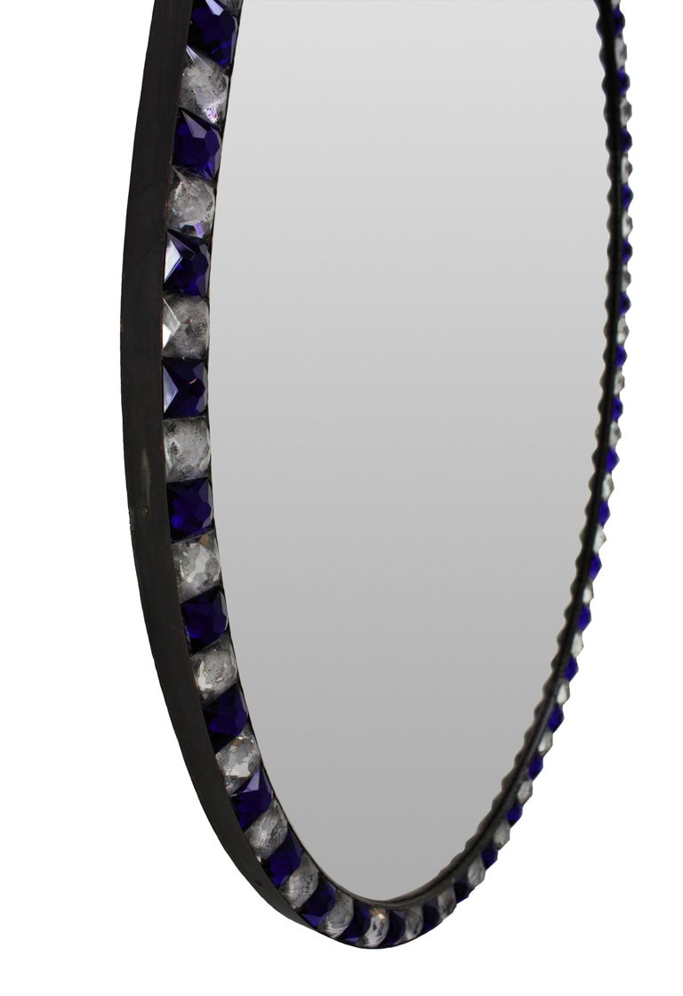 Contemporary Pair of George III Style Irish Mirrors in Rock Crystal