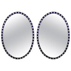 Pair of George III Style Irish Mirrors in Rock Crystal