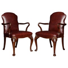 Pair of George III Style Mahogany Armchairs