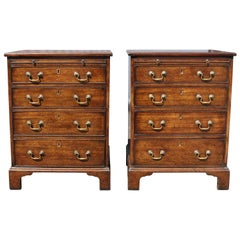 Pair of George III Style Mahogany Bachelor Chests of Drawers