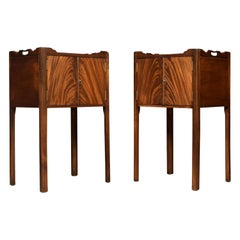 Pair of George III Style Mahogany Bedside Cupboards
