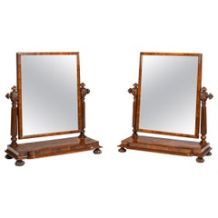 Pair of George IV Mahogany Table Mirrors Attributed to Gillows