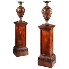 Pair of George IV Mahogany Torcheres
