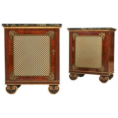Pair of George IV Rosewood and Giltwood Cabinets