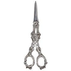 Pair of George IV Silver Grape Scissors