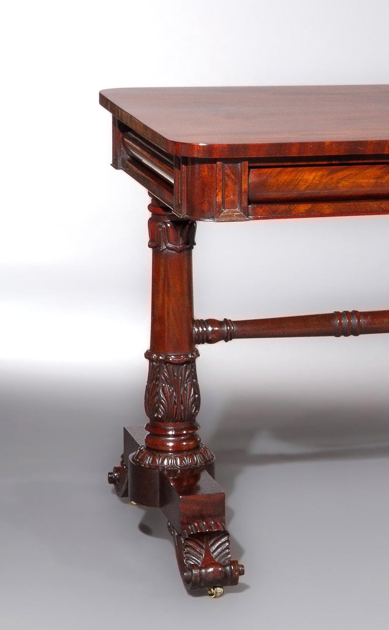 Pair of George IV/William IV Console Tables in the Style of Gillows In Good Condition For Sale In New York, NY