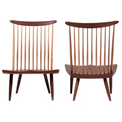Pair of George Nakashima Lounge Chairs, 1978