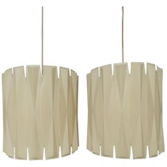 "Pair of George Nelson ""Lantern Series"" Pendant Lights, circa 1962"