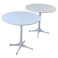 Pair of George Nelson Pedestal Table Model 5254 for Herman Miller
