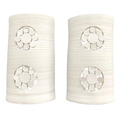 Pair of Georges Pelletier Ceramic Sconces, circa 1970, France
