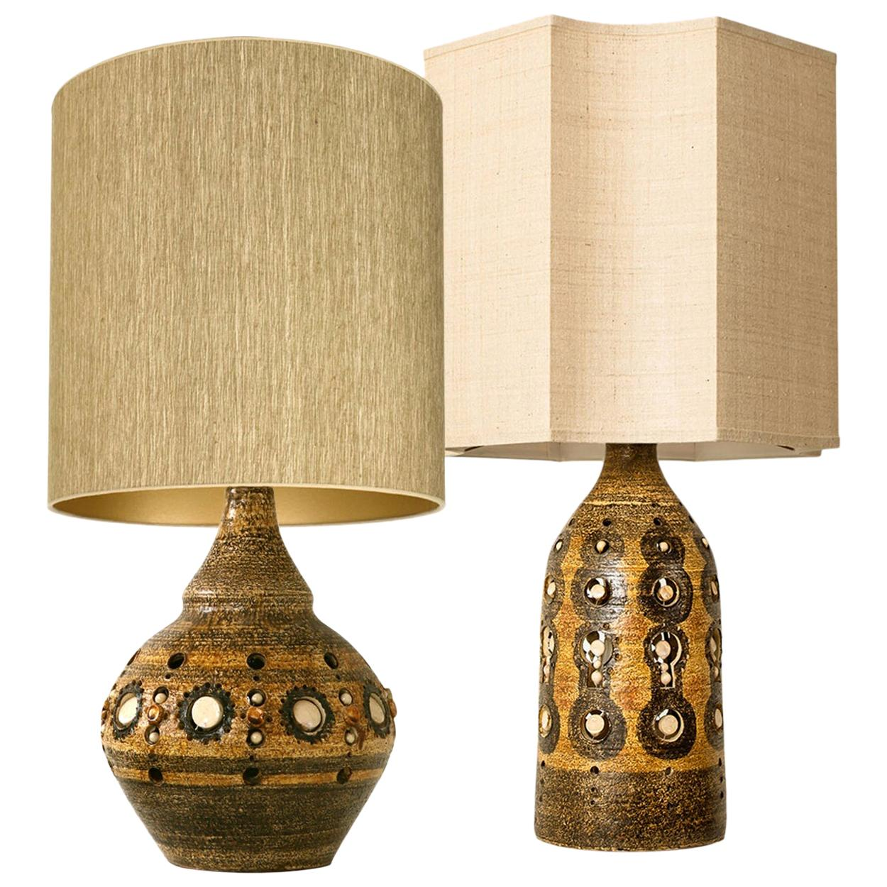 Pair of Georges Pelletier Table Lamps, circa 1970, France