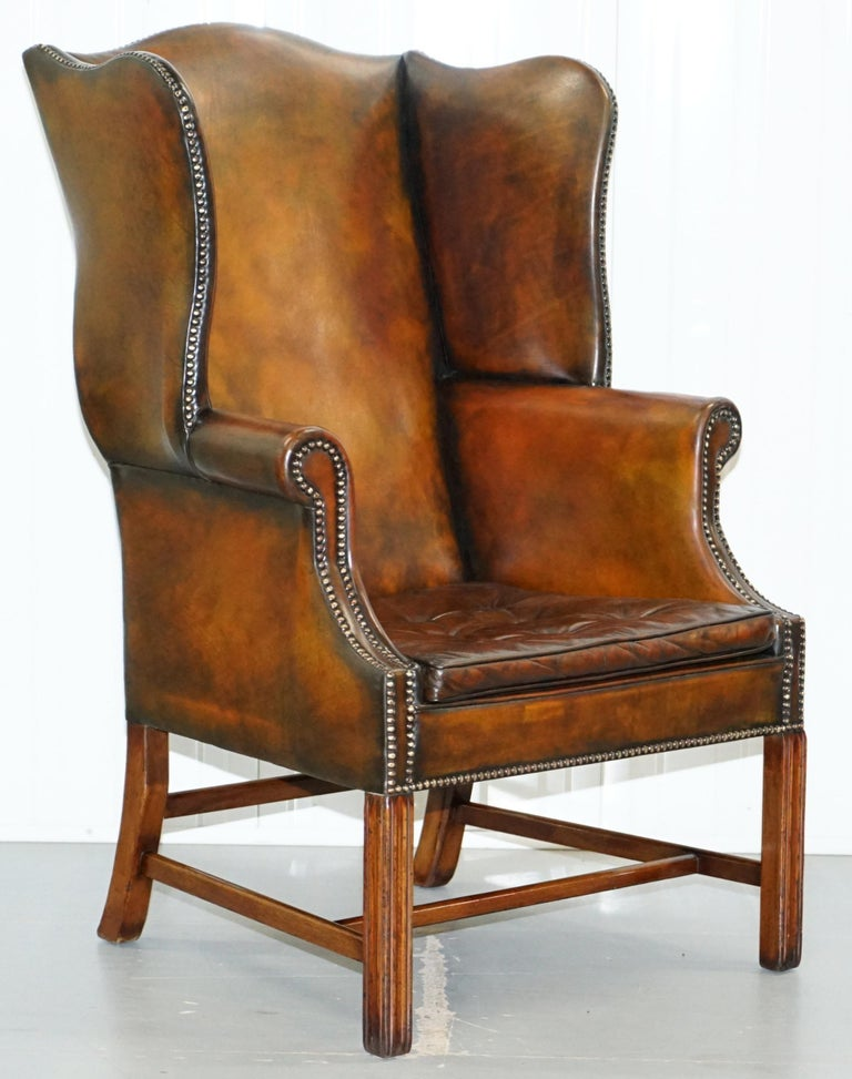 We are delighted to offer for sale this stunning pair of original Georgian, circa 1820 fully restored wingback armchairs