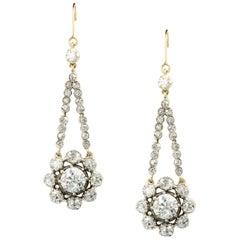 Pair of Georgian Diamond Pendant Earrings