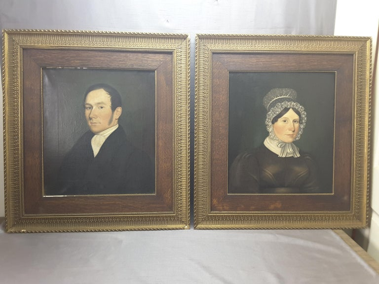 Pair of Georgian English Portrait Paintings by Rev. Ben Hudson Dated 1828 & 1829 For Sale 10