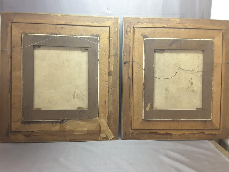 Pair of Georgian English Portrait Paintings by Rev. Ben Hudson Dated 1828 & 1829 For Sale 4