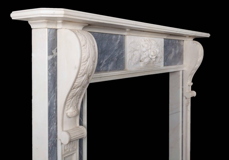 Carved Pair of Georgian Fireplaces For Sale