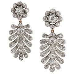 Pair of Georgian Palmette Drop Earrings