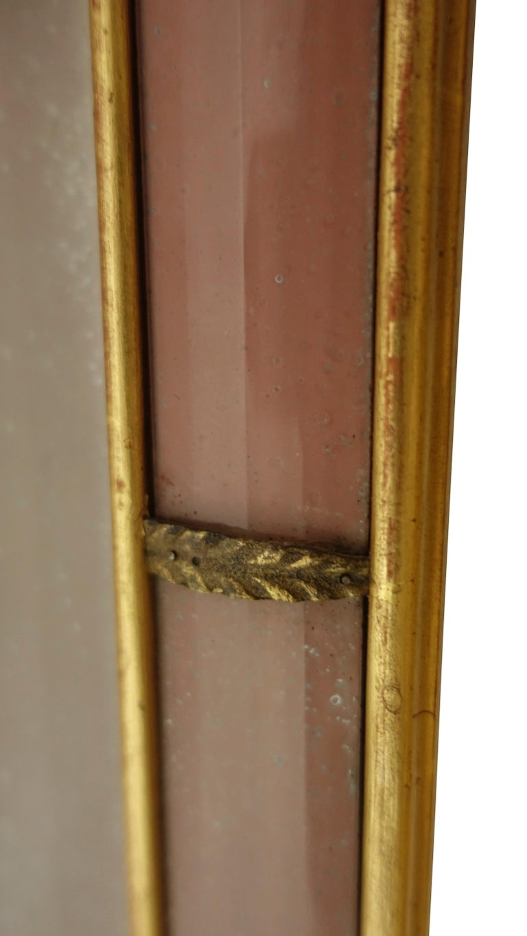 Pair of Georgian Pier Mirrors with Gilt Frame and Etched Glass For Sale 4